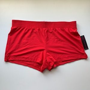 Women's red comfy shorts